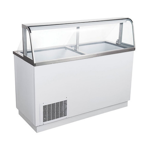 "Adcraft USDP-67 67"" U-Star Ice Cream Dipping Cabinet - 8 Gal. Cans"