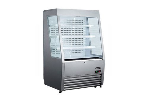 "Kool-It KOM-36 SS 36"" Open Air Merchandiser, 14 cu/ft"