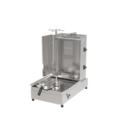 Inoksan PDG112M Natural Gas Gyro Machine, 2 Double Burner, Bottom Motor