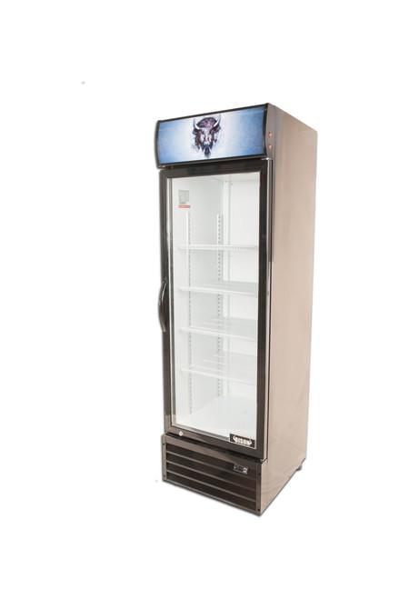 """Bison BGM-15 23"""" Single Glass Door Reach-In Refrigerator - 15 cu. ft. (BGM-15)"""