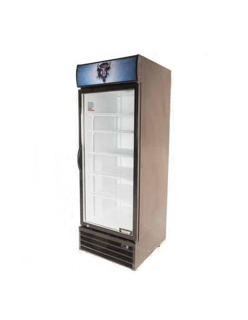 """Bison BGM-21 27"""" Single Glass Door Reach-In Refrigerator - 21 cu. ft. (BGM-21)"""