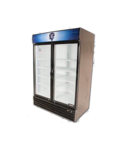 """Bison BGM-49 52"""" Two Section Glass Door Reach-In Refrigerator - 48 cu. ft. (BGM-49)"""