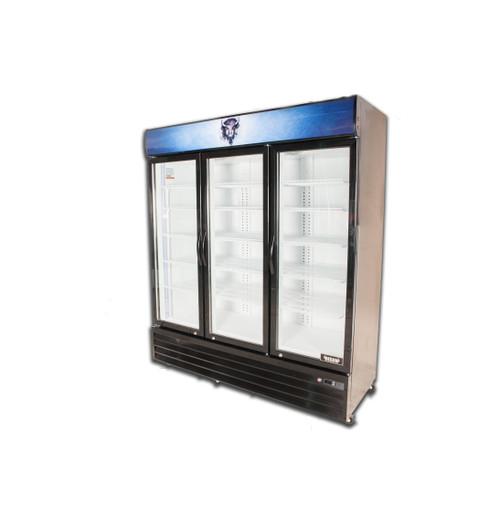 "Bison BGM-53 67"" Three Glass Door Reach-In Refrigerator - 53 cu. ft. (BGM-53)"