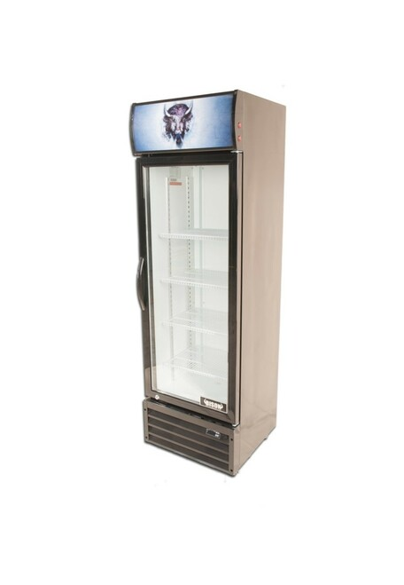 """Bison BGM-8 21"""" Single Glass Door Reach-In Refrigerator - 8.7 cu. ft. (BGM-8)"""