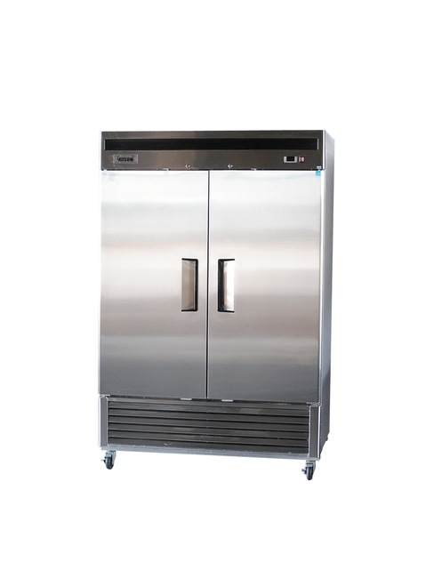 "Bison BRF-46 54"" Stainless Steel Reach-In Freezer - 2 Door - 46 cu.ft. (BRF-46)"
