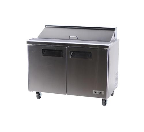 """Bison BST-48 48"""" Sandwich Prep Table - 2 Door - 12 cu. ft. (BST-48)"""
