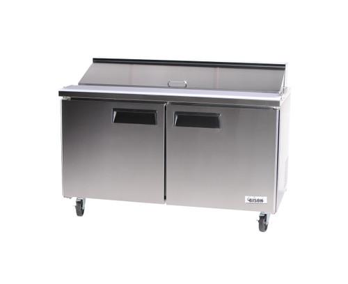"""Bison BST-60 60"""" Sandwich Prep Table - 2 Door - 18.2 cu. ft. (BST-60)"""