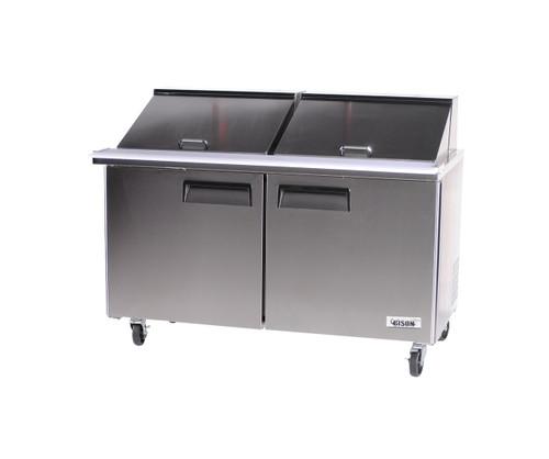 """Bison BST-60-24 60"""" Sandwich Prep Table - 2 Door - 18.6 cu. ft. (BST-60-24)"""
