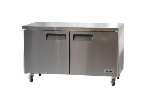 """Bison BUF-60 60"""" Undercounter Freezer - 2 Door - 17.9 cu. ft. (BUF-60)"""