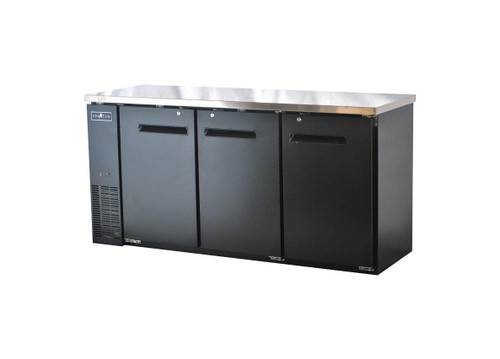 "Spartan SBBB-72 72"" Back Bar Cooler - Black Vinyl - 19.6 cu. ft. (SBBB-72)"