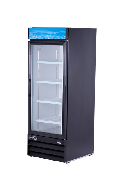 "Spartan SGM-23RV 28"" Reach-In Glass Door Refrigerator - 1 Door - 23 cu. ft. (SGM-23RV)"