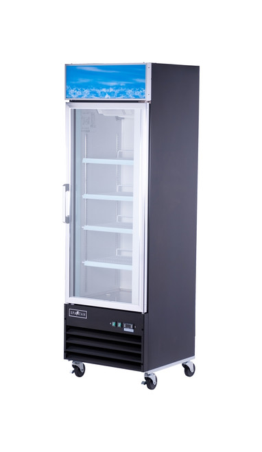 "Spartan SGM-26RS 26"" Reach-In Glass Door Refrigerator - 1 Door - 14 cu. ft. (SGM-26RS)"