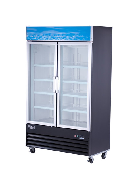 "Spartan SGM-49RS 48"" Reach-In Glass Door Refrigerator - 2 Door - 25 cu. ft. (SGM-49RS)"