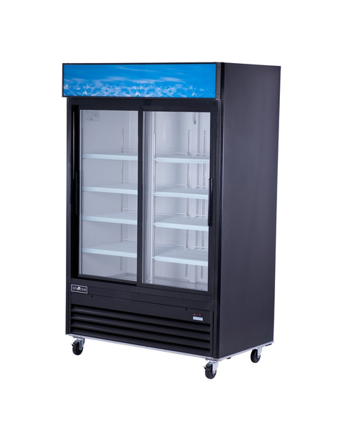 "Spartan SGM-53R 53"" Reach-In Glass Door Refrigerator - 2 Door - 44 cu. ft. (SGM-53R)"