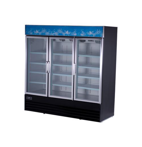 """Spartan SGM-72RS 78"""" Reach-In Glass Door Refrigerator - 2 Door - 69 cu. ft. (SGM-72RS)"""