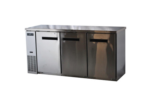"Spartan SSBB-72 72"" Back Bar Cooler - Stainless Steel - 19.6 cu. ft. (SSBB-72)"