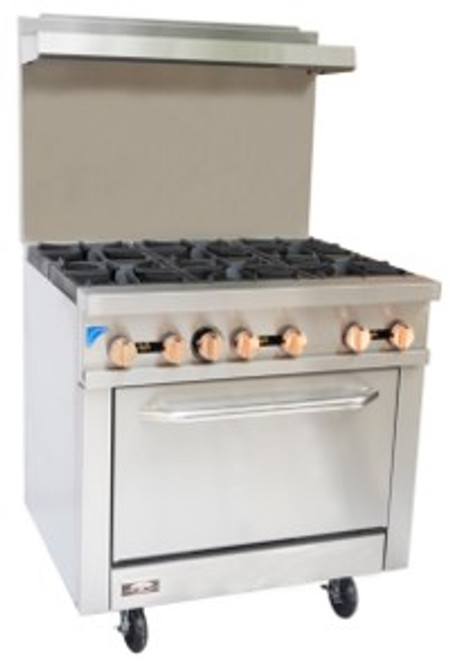Copper Beech CBR-6 6 Open Burner Gas Range w/ Oven (CBR-6)