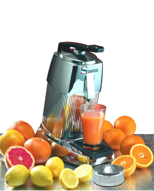Santos 10C Automatic Citrus Juicer with Lever, Chrome