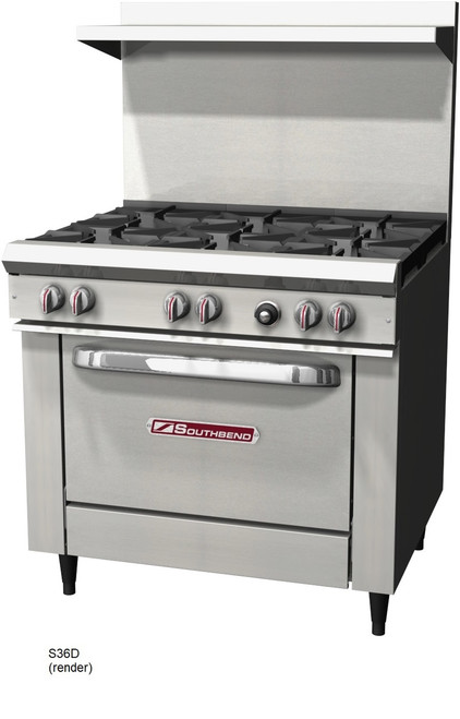 """Southbend S36D S-Series Restaurant Gas Range, 36"""" with Standard Oven"""