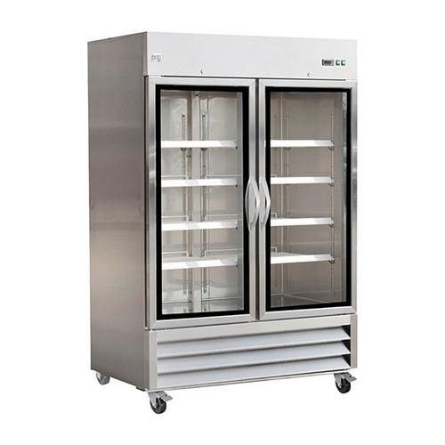 """Ikon Series IB54FG 54"""" Glass Door Freezer, 2 Doors"""