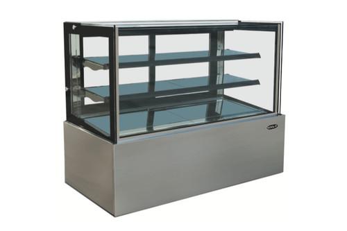 """Kool-It KBF-48D 47"""" Flat Glass Display Case, 13.7 cu/ft, Dry"""