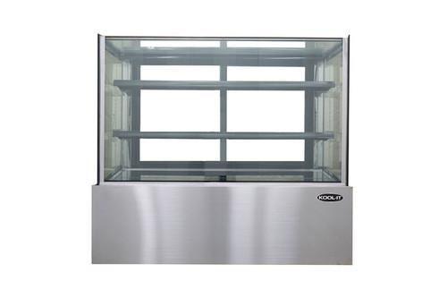 """Kool-It KBF-60D 59"""" Flat Glass Display Case, 17.6 cu/ft, Dry"""