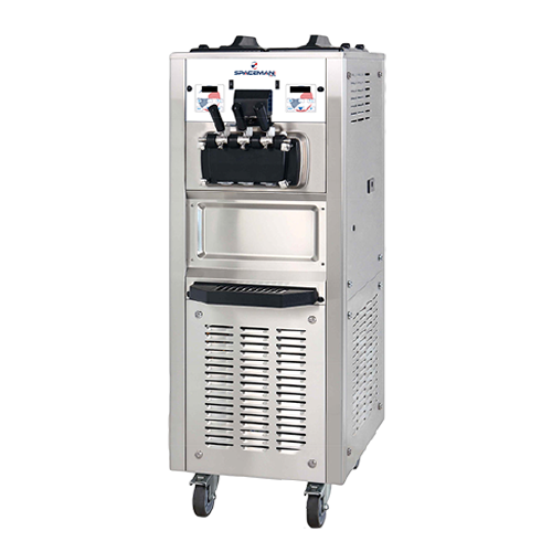Spaceman 6378AH Soft Serve Ice Cream Machine with Air Pump and 2 Hoppers - 208/230V, 3 Phase