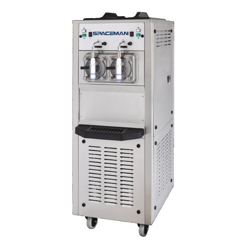 Spaceman 6795H 2 Bowl Slushy / Granita Stainless Steel Floor Model Frozen Drink Machine - 208/230V