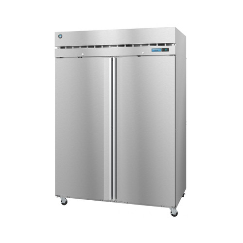 "Hoshizaki F2A-FS 55"" Upright Freezer, Two Section, Full Stainless Doors with Lock"