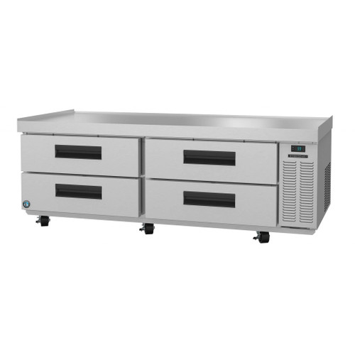 "Hoshizaki CR72A 72"" Two Section Chef Base Prep Table, Stainless Drawers (CR72A)"