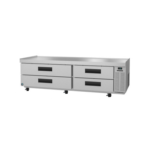Hoshizaki CR85A, Refrigerator, Two Section Chef Base Prep Table, Stainless Drawers