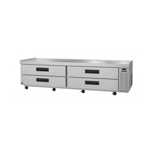 Hoshizaki CR98A, Refrigerator, Two Section Chef Base Prep Table, Stainless Drawers