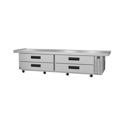 Hoshizaki CR110A, Refrigerator, Two Section Chef Base Prep Table, Stainless Drawers