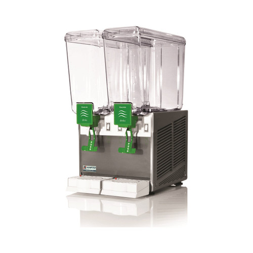 Ampto D1256 Cold Beverage Dispenser, 5 Gallons, 2 Bowls