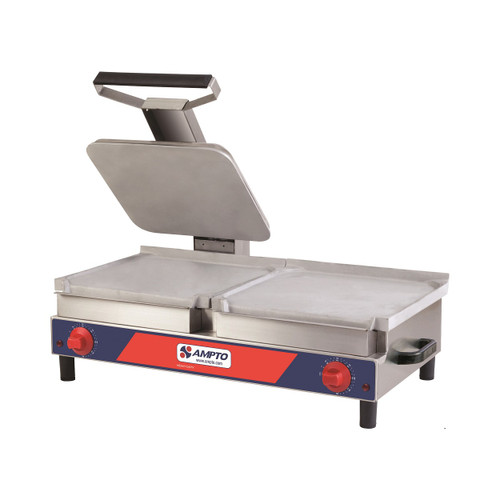 Ampto SACL Flat Sandwich/Griddle Combination, 120V