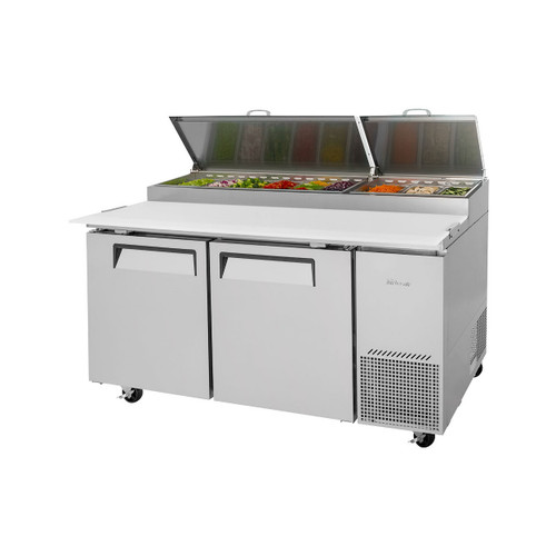 Turbo Air TPR-67SD-N Super Deluxe Pizza Prep Table - 2 Solid Doors