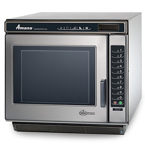 Amana RC30S2 Heavy-Duty Stainless Steel Commercial Microwave Oven with Push Button Controls - 208/240V, 3000W
