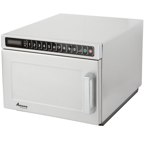 Amana HDC18SD2 Heavy Duty Stainless Steel Commercial Microwave with Solid Door - 208/240V, 1800W