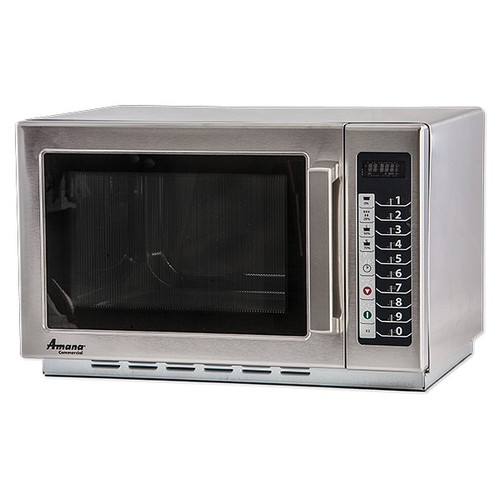 Amana RCS10TS Stackable Commercial Microwave with Push Button Controls - 120V, 1000W