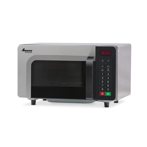 Amana RMS10TSA Stainless Steel Commercial Microwave with Push Button Controls - 120V, 1000W