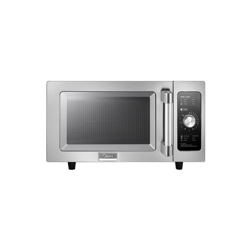 Midea 1025F0A 0.9 Cu Ft. 1000W Dial Commercial Microwave, Medium Capacity, 120V