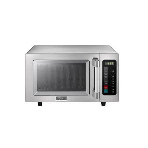Midea 1025F1A 0.9 Cu Ft. 1000W Push Button Commercial Microwave, Medium Capacity, 120V