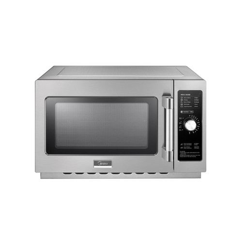 Midea 1034N0A 1.2 Cu. Ft. 1000W Dial Commercial Microwave, Large Capacity, 120V