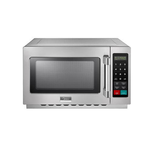 Midea 1034N1A 1.2 Cu. Ft. 1000W Push Button Commercial Microwave, Large Capacity, 120V