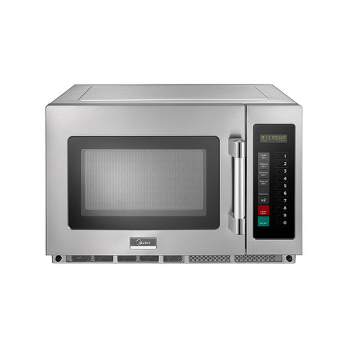 Midea 1834G1A 1.2 Cu. Ft. 1800W Push Button Commercial Microwave, Large Capacity