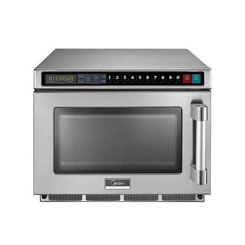Midea 1217G1A 0.6 Cu. Ft. 1200W Push Button Commercial Microwave, 120V