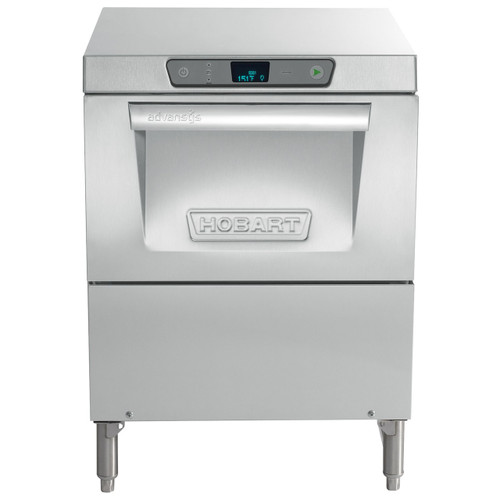 """Hobart LXGeR-1 Advansys Energy Recovery High Temperature Glasswasher, 120/208-240V w/ 6"""" leg stand"""