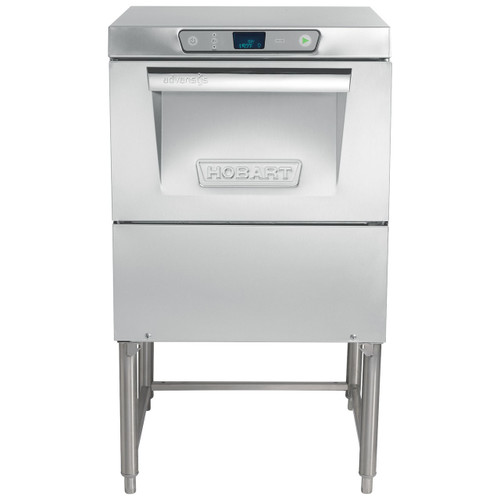 """Hobart LXGeR-2 Advansys Energy Recovery High Temperature Glasswasher, 120/208-240V w/ 14"""" leg stand"""
