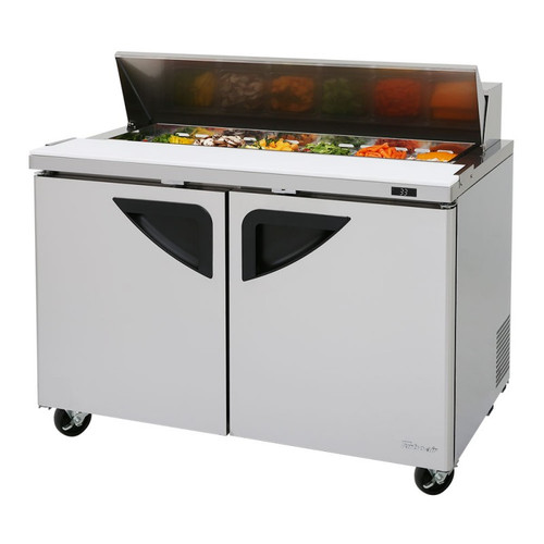 Turbo Air TST-48SD-N Super Deluxe Sandwich/Salad Prep Table - 2 Solid Doors