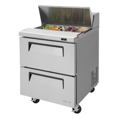 Turbo Air TST-28SD-D2-N Super Deluxe Sandwich/Salad Prep Table - 2 Drawers